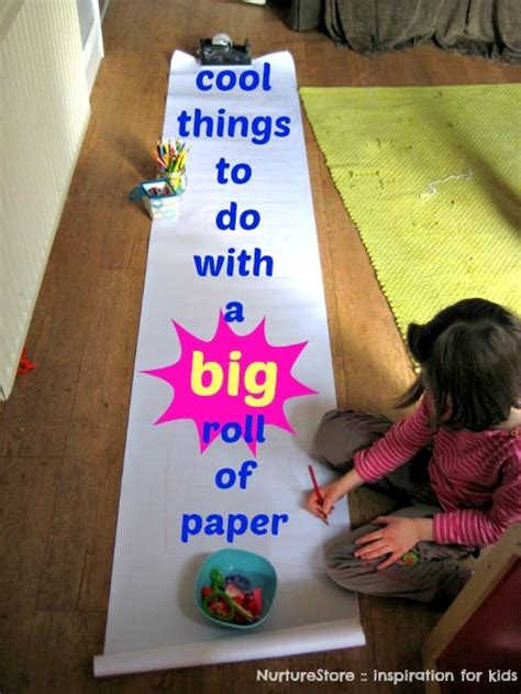 Cool things to do with a big roll of paper - NurtureStore