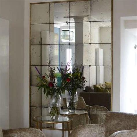 Antiqued mirror with narrow gilt frame #antiquemirrors by