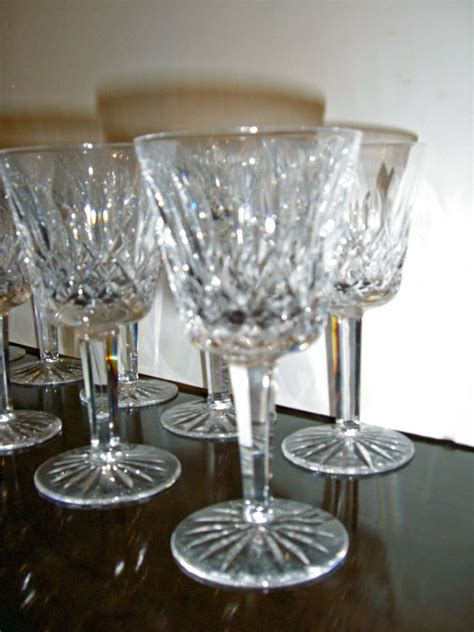 12 Waterford 'Lismore' Crystal Water Goblets For Sale