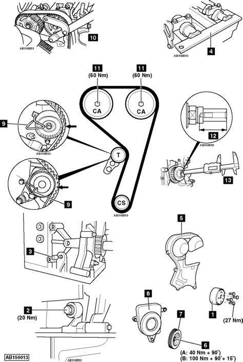 Replace timing belt on Ford C-MAX 1