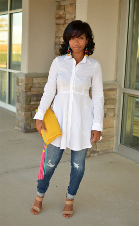 2 Stylish White Button Downs: Look One   Sweenee Style