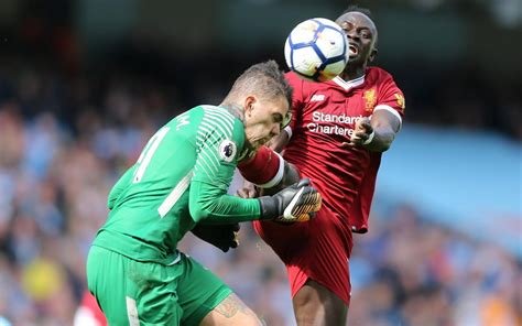 Sadio Mane sees red for boot to Ederson's face as