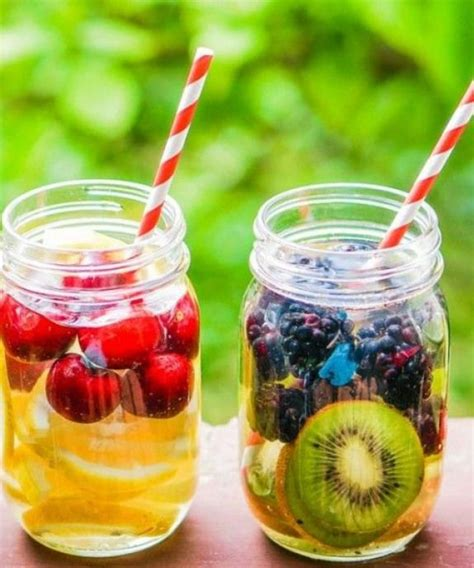 Drinking detox water loaded with vitamins can positively