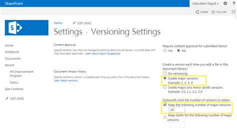 Enable Versioning for All Document Libraries in SharePoint