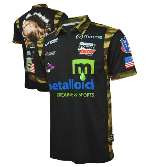 Sublimated Crew Polos - Racer Ink